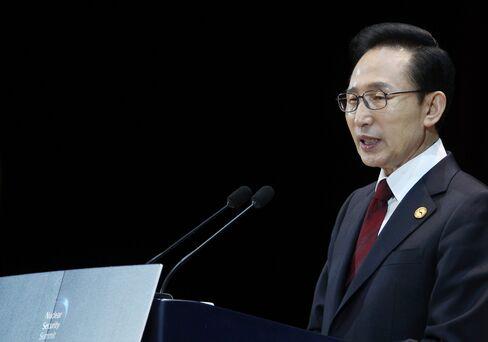 South Korea's President Lee Myung Bak
