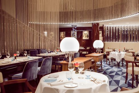 Rivea is housed in the basement of the Bulgari hotel in London.