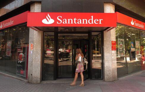 Banco Santander branch in Madrid