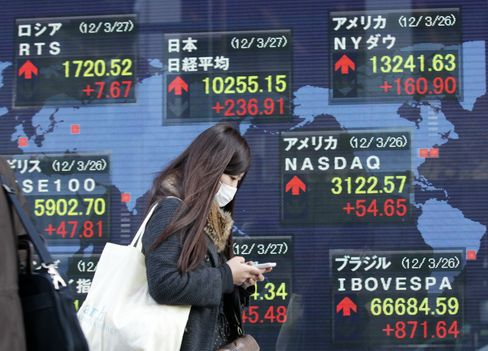 Asia Stocks Fall as U.S. Factory Orders Miss Estimate, Oil Drops
