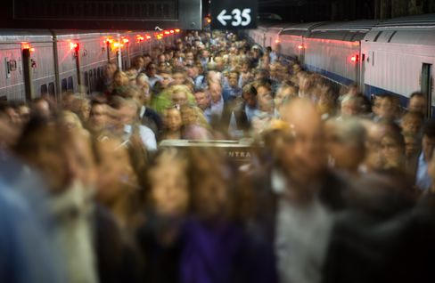Commuters in New York