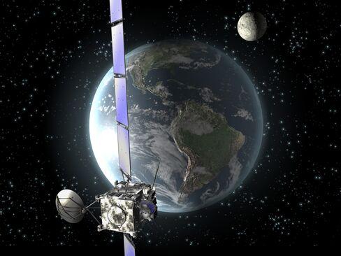 An Illustration Shows the Rosetta Spacecraft