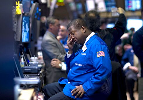 U.S. Stocks Drop as S&P 500 Heads for Second-Worst Loss in 2012