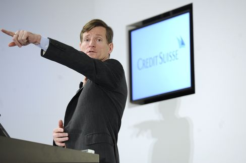 Brady Dougan, chief executive officer of Credit Suisse