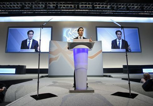 Leader of the U.K. Opposition Labour Party Ed Milliband