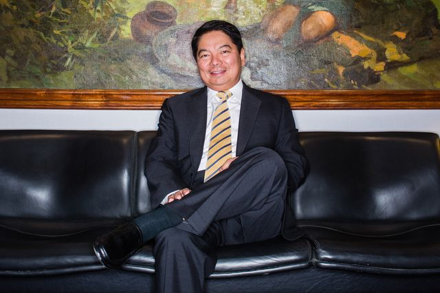 Manila's man of the moment, central banker Amando Tetangco. Photographer: Julian Abram Wainwright/Bloomberg
