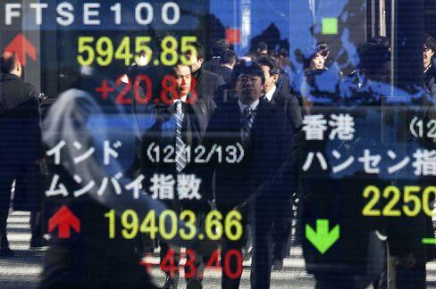 Asian Stocks Halt 11-Day Rally as Won Drops After Japan Survey