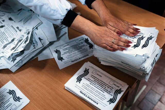 Ukrainianballot papers, photocopier not shown. Photographer: Dimitar Dilkoff/AFP via Getty Images