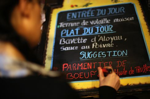 Dirty Secret of French Restaurants Out as Law Seeks Food Origin