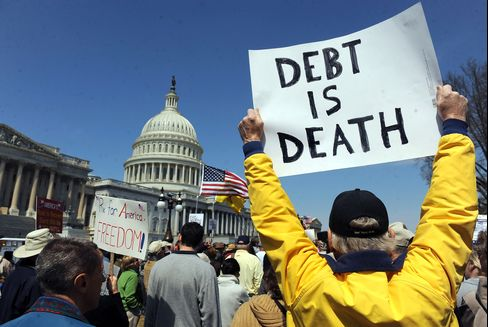 Americans See Debt Threat as They Reject Tax 'Scare Tactics'