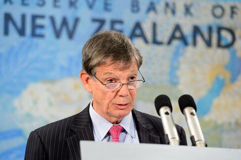 Reserve Bank of New Zealand Governor Graeme Wheeler