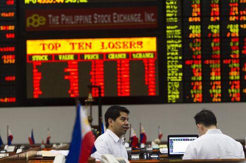 Philippine Stocks Slump Most Among Asia Markets