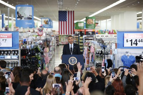 President Obama Speaks at Wal-Mart