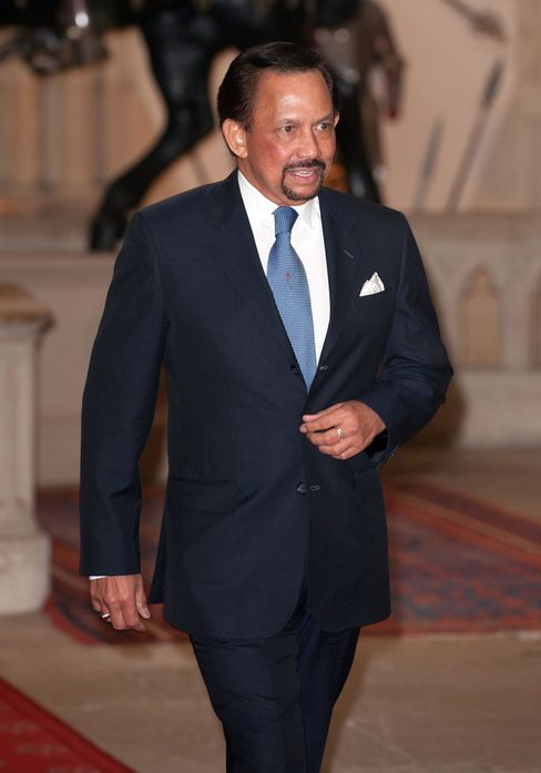 Sultan Hassanal Bolkiah qualified for a 10 percent discount in his monthly council tax payment, according to a Freedom of Information request to the borough of Kensington and Chelsea by Bloomberg News. Photographer: Dominic Lipinski - WPA Pool/Getty Images