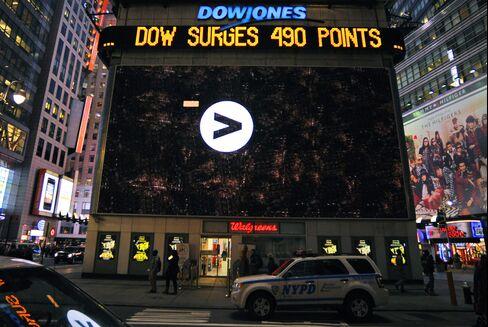 Dow Jones Average Record Rebound Proving Best