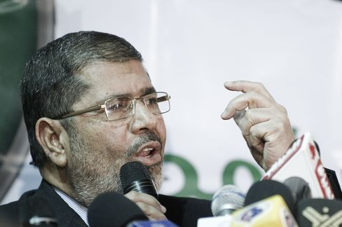 Muslim Brotherhood Freedom and Justice Party Head Mohamed Mursi