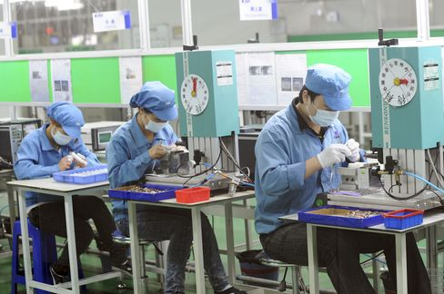 China Manufacturing May Contract a Sixth Month, Survey Shows