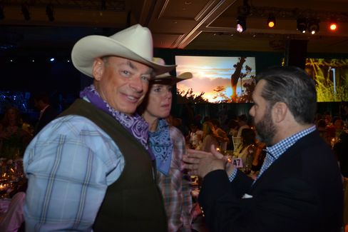 Louis B. Hager Jr., left, great-great-grandson of brewery founder Adolphus Anheuser Busch
