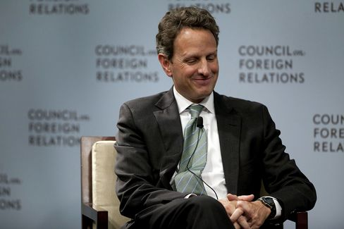 Former U.S. Treasury Secretary Timothy Geithner