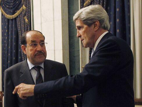 Iraqi PM Nouri al-Maliki & U.S. Secretary of State John Kerry