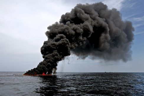 Controlled Burn of Oil