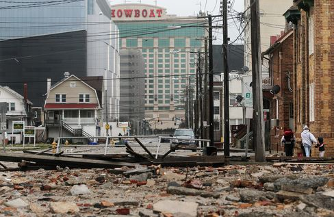 Atlantic City, Struggling in Best Times, Faces Storm's New Blows
