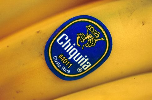 Chiquita Bananas Sit For Sale On A Shelf