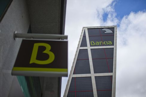 Bankia Group is among lenders that increased mortgage-backed debt issuance by 35 percent since December 2007 to 535.1 billion euros, or 53 percent of their real-estat