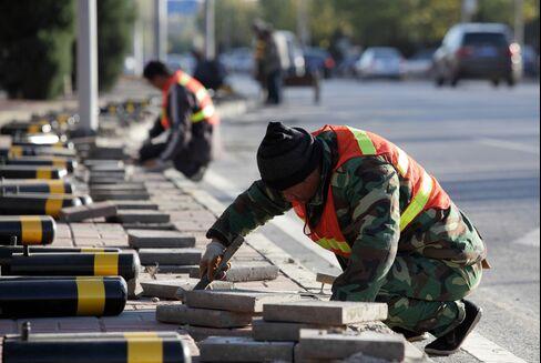 Road construction in Beijing