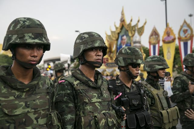 This isn't a pretty picture for Thailand's economy.Photographer: Paula Bronstein/Getty Images