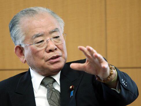 Japan's Financial Services Minister Tadahiro Matsushita
