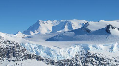 Ice on the Ellsworth Range in Antarctica