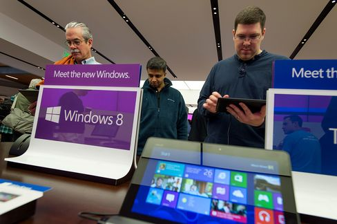 Microsoft Drops After Goldman Says PC Market Share Will Falter