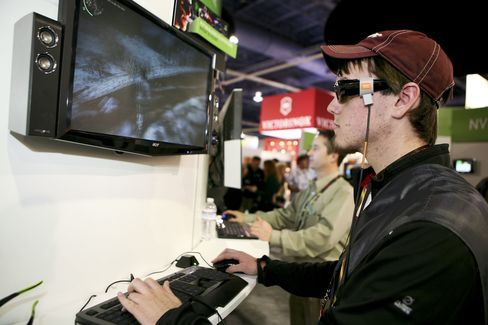 Nvidia Corp. booth during the 2010