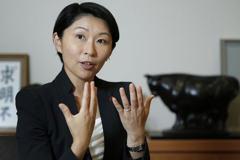 Japan's Economy, Trade and Industry Minister Yuko Obuchi