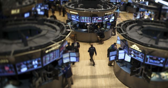 """It looks empty here without all the """"Flash Boys."""" Photographer: Scott Eells/Bloomberg"""
