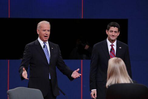 U.S. Vice President Joe Biden and Representative Paul Ryan