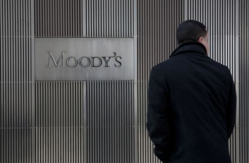 The conflict between investors, who own $2.2 trillion of debt sold by the 15 banks, and Moody's shows that money managers have limited confidence in the ability of rating firms to determine whether companies or governments are creditworthy. Photographer: Scott Eells/Bloomberg