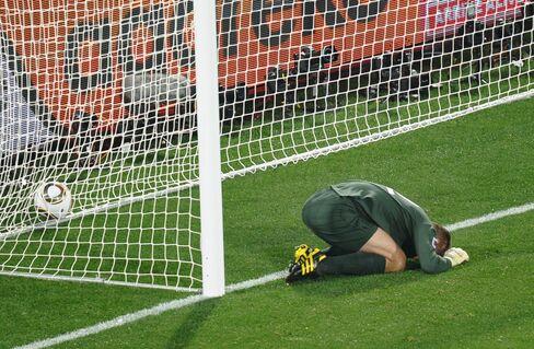 England's goalkeeper Robert Green