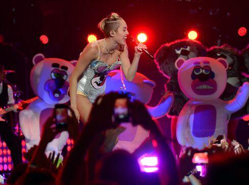 Singer Miley Cyrus at the MTV VMAs