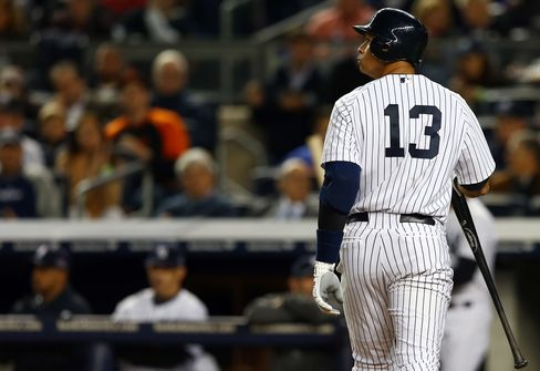 Alex Rodriguez Is Dropped in Yankees' Lineup After Pinch Hit