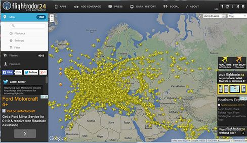 Flightradar App Goes Viral as Ukraine Crash Spawns Planespotters