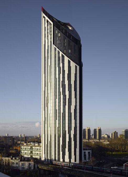 Strata, a luxury-apartment building