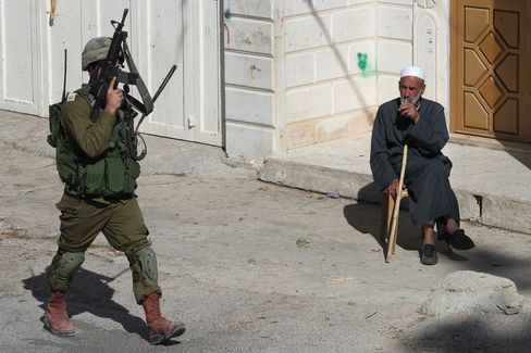 Israeli Soldier in the West Bank