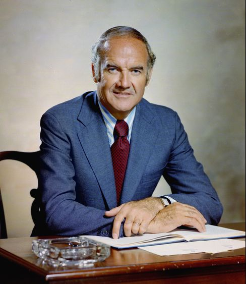 U.S. Senator and Democratic presidential candidate George McGovern sits for a portrait in 1972. Photographer: Bachrach/Getty Images