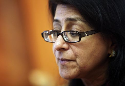Naina Lal Kidwai, HSBC Holdings Plc's country head for India. Photographer: Adeel Halim/Bloomberg