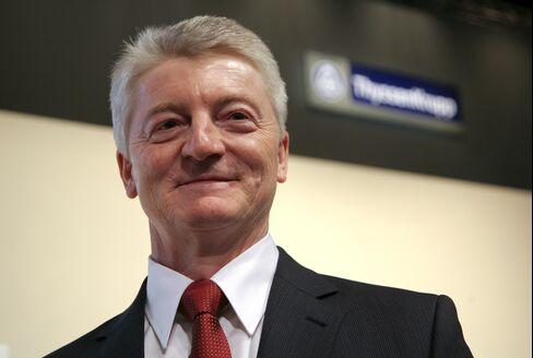 ThyssenKrupp AG CEO Heinrich Hiesinger