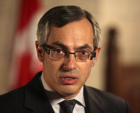 Canadian Industry Minister Tony Clement