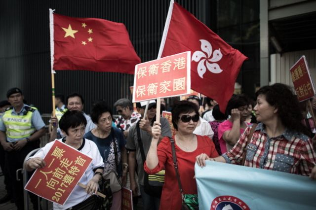 Hong Kong's leader has joined the ranks of those protesting against possible Occupy protests.
