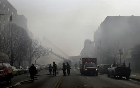 NYC Building Explosion and Collapse